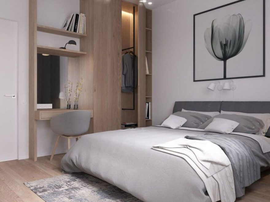 Inspiring Scandinavian Bedroom Design Ideas41