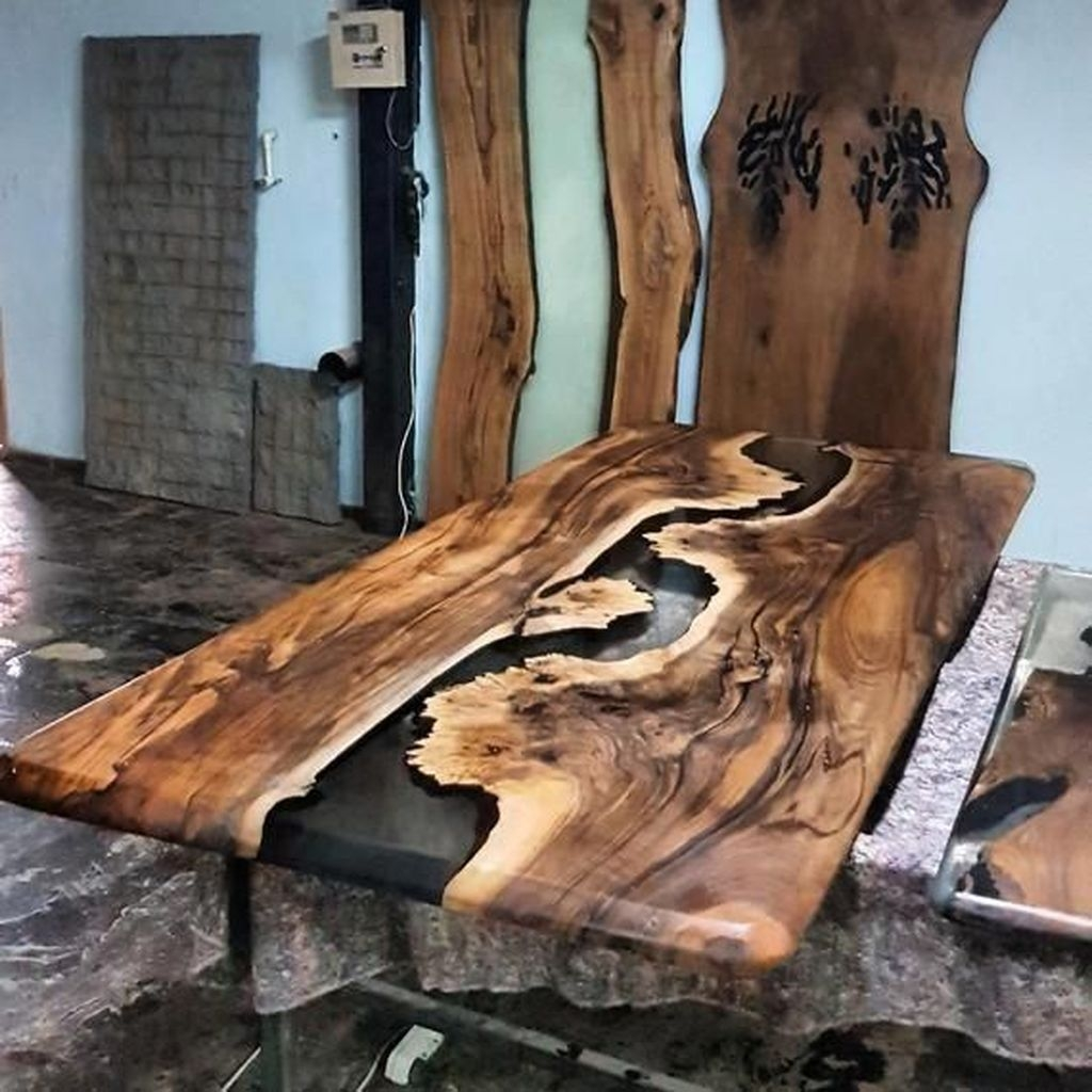 Classy Resin Wood Table Ideas For Your Furniture23