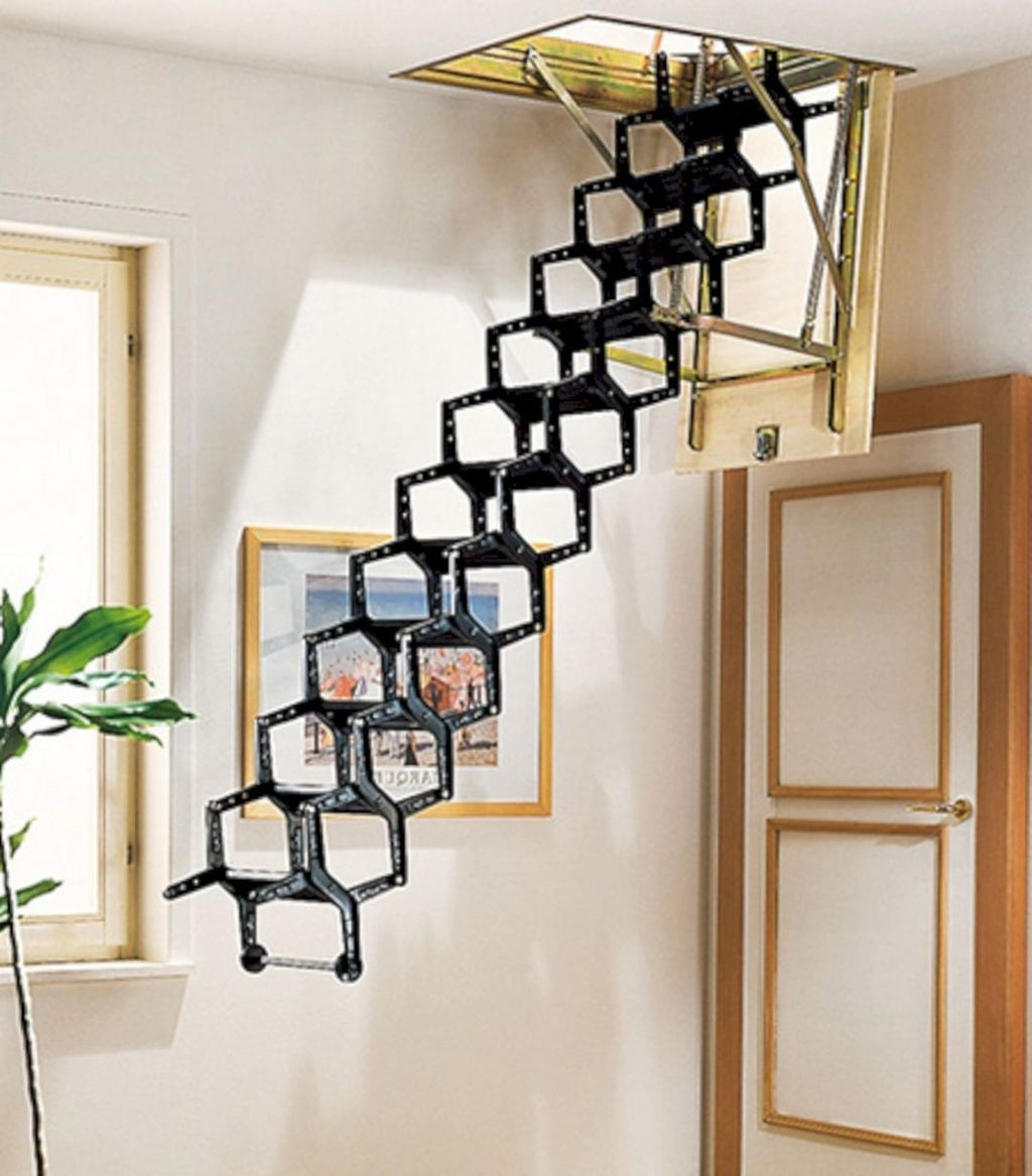 Incredible Stairs Design Ideas For The Attic To Try38